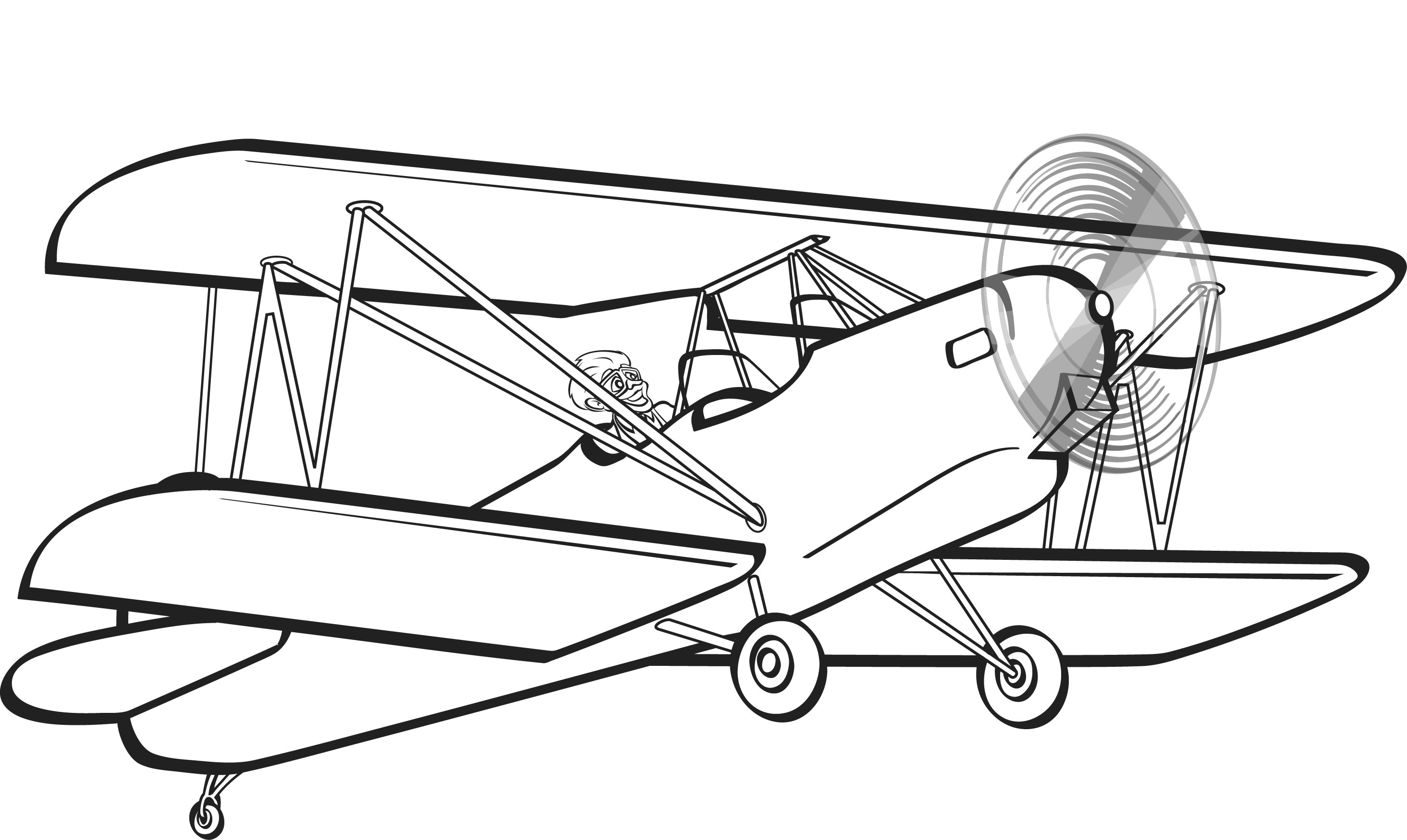 free vintage airplane coloring pages - photo#20