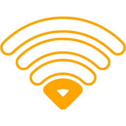 Wifi Symbol In Orange - ClipArt Best