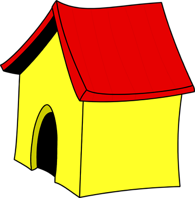 Free Stock Photos | Illustration Of A Yellow Dog House | # 3318 ...: www.clipartbest.com/dog-house-clip-art