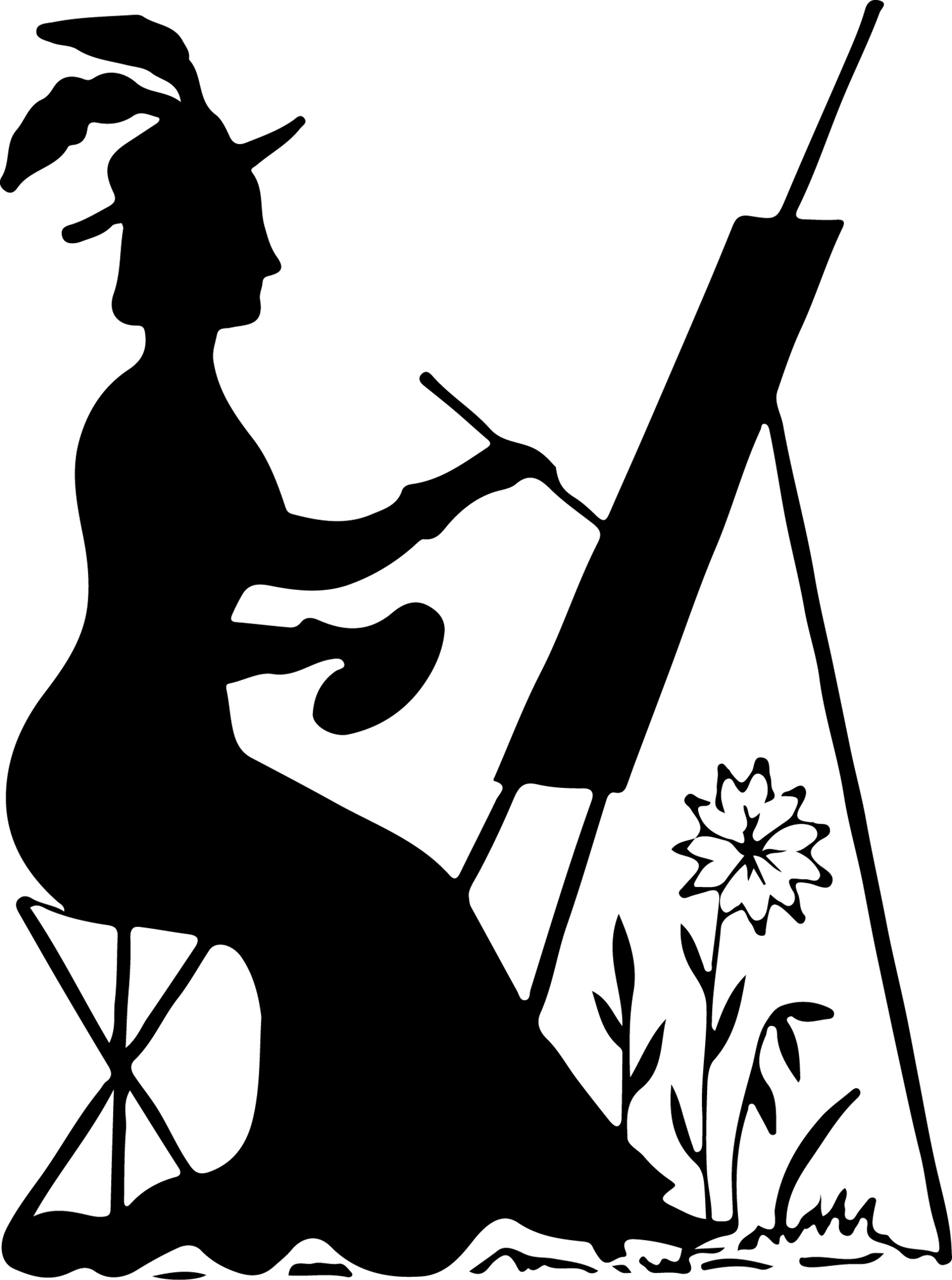 Silhouette Stock Image - Lady Painting - The Graphics Fairy ...