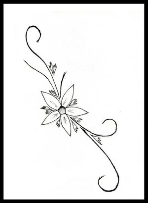 Black And White Flower Tattoo Designs