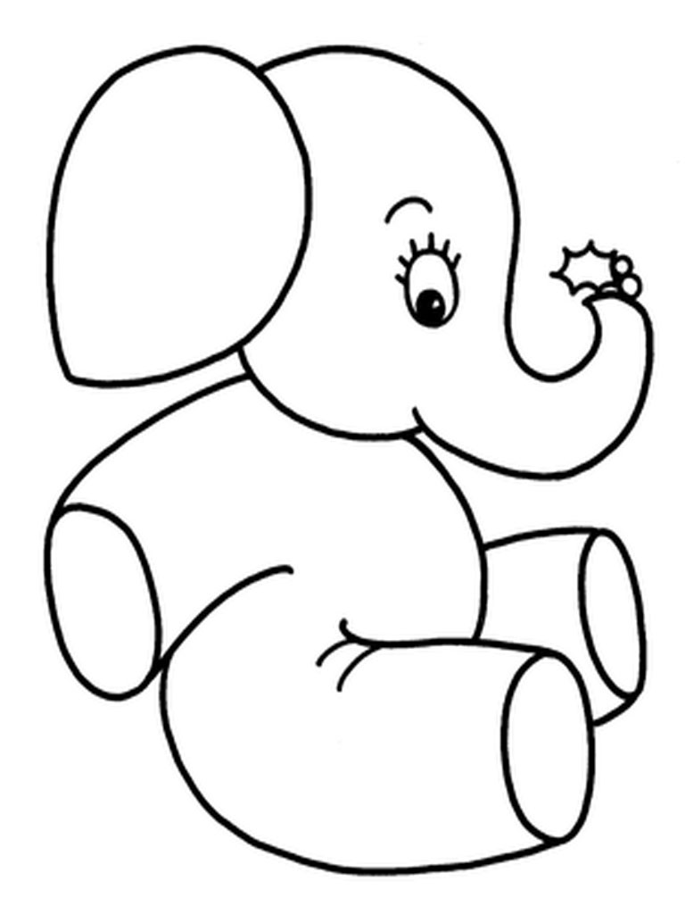 Elephant Drawing Color Elephants Coloring Pages