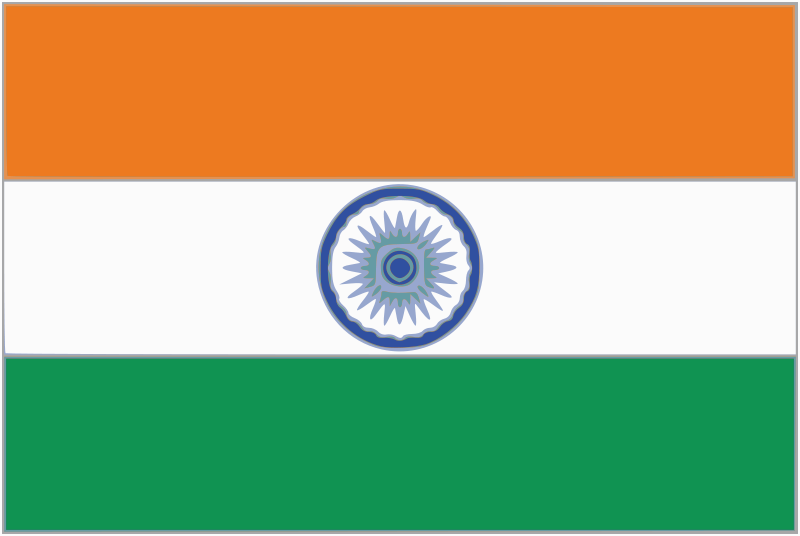 Indian Flag With Different Views: India Flag Clip Art