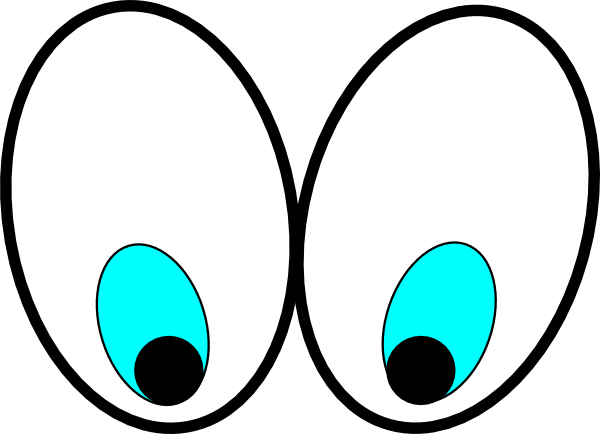 Cartoon Eyes Looking Down