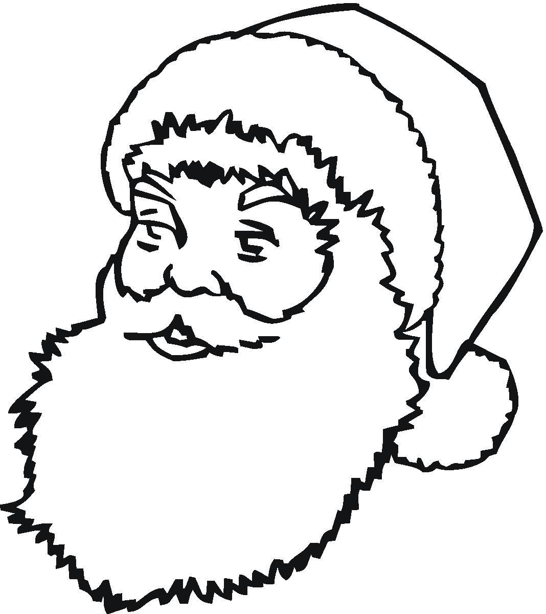 Free Printable Santa Face Pattern Free Printable Santa Claus