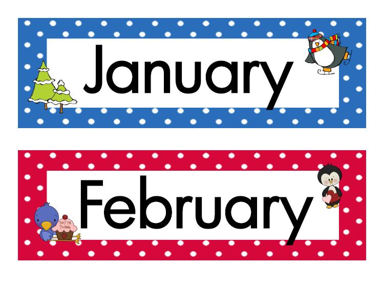 Free Clip Art Calendar Months : Months of the year clipart best