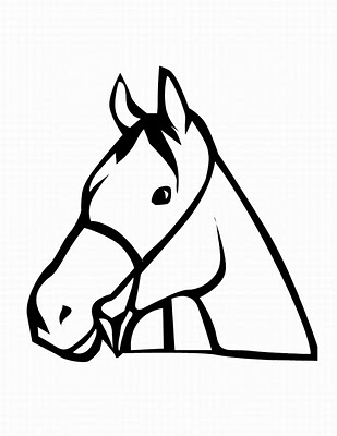 Horse Head Template Printable - ClipArt Best