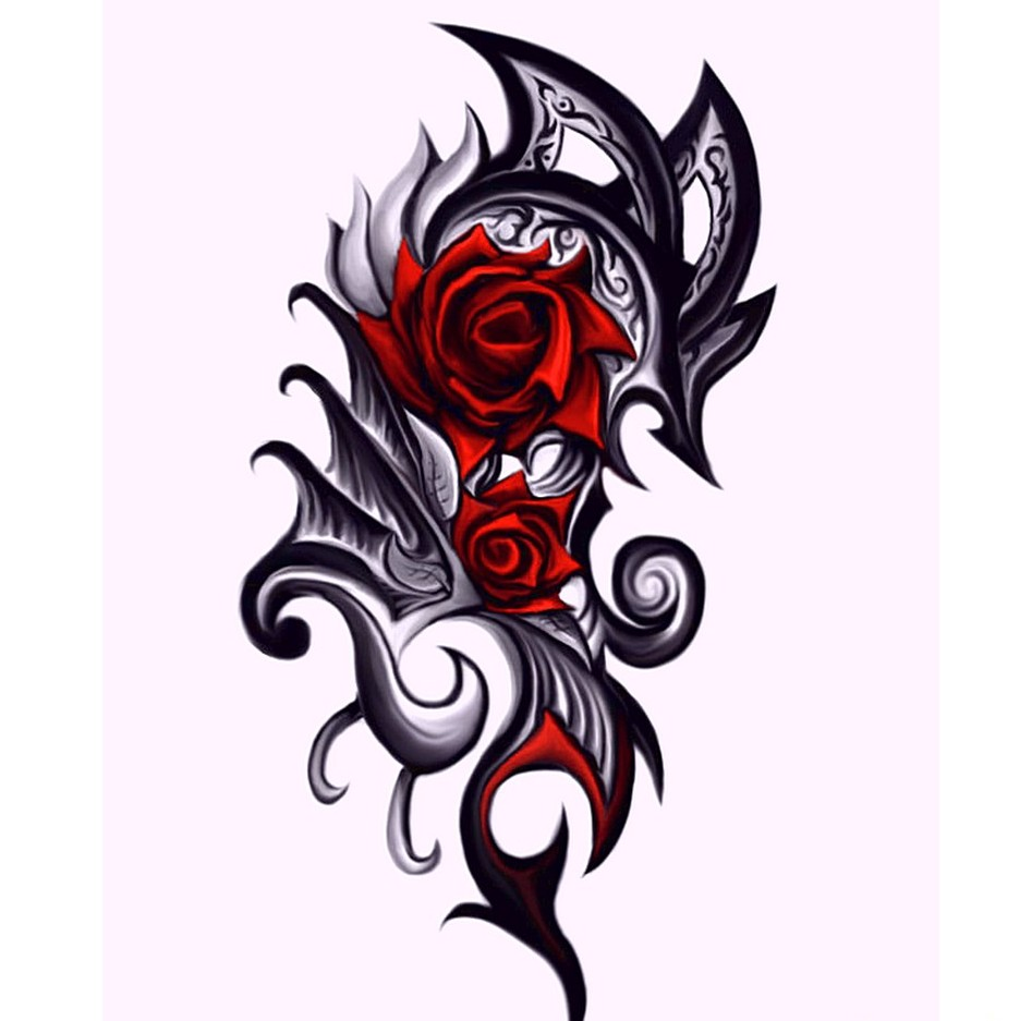 62 Rose Tribal Tattoo Free Cliparts That You Can Download To