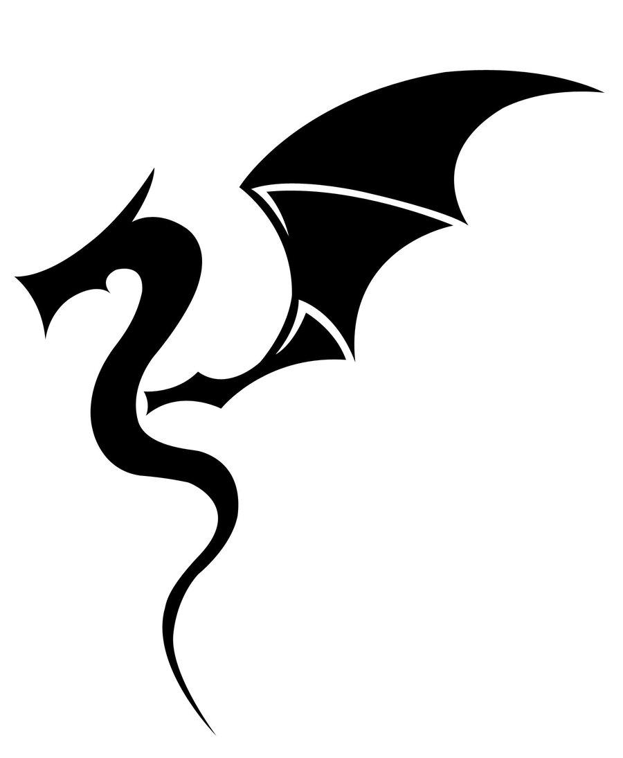Simple Dragon Line Art : Simple dragon images clipart best