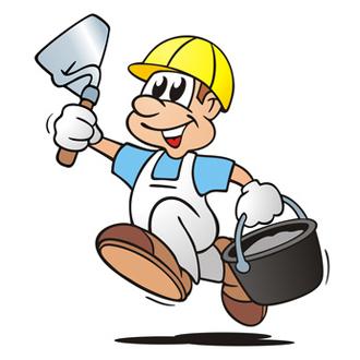 Dicker Bauarbeiter
