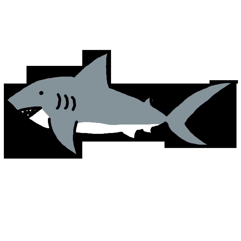 Shark Outline Clip Art - ClipArt - 102.9KB