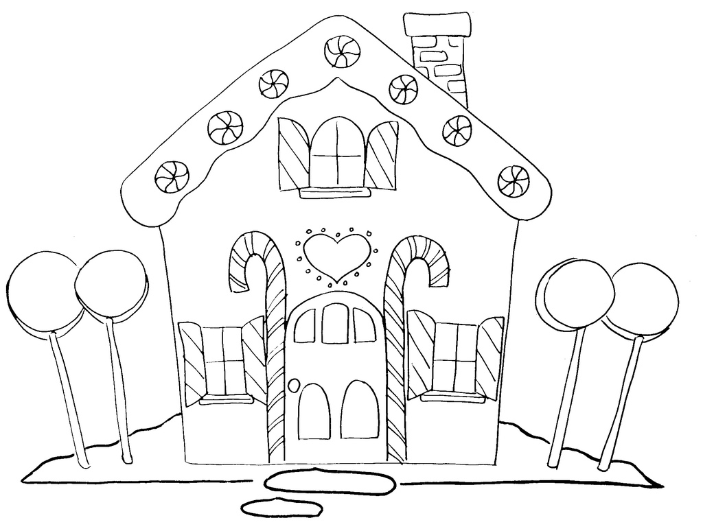 gingerbread house candy coloring pages - photo#6