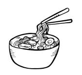 spaghetti clipart black and white clipart best
