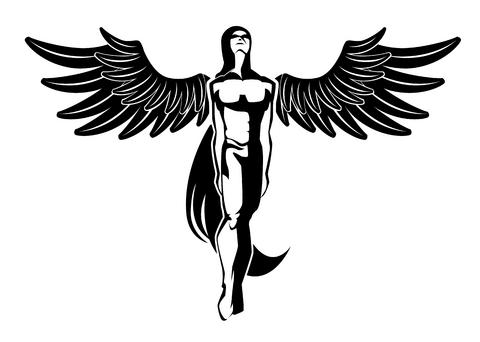 Tribal Angel Tattoo Clipart Best