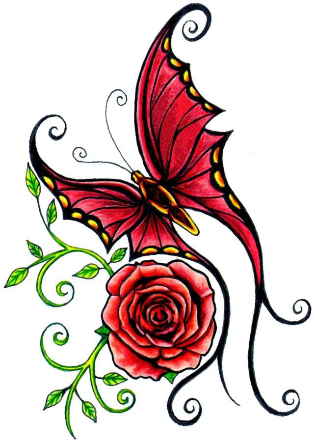 rose tattoo stencils clipart best. Black Bedroom Furniture Sets. Home Design Ideas
