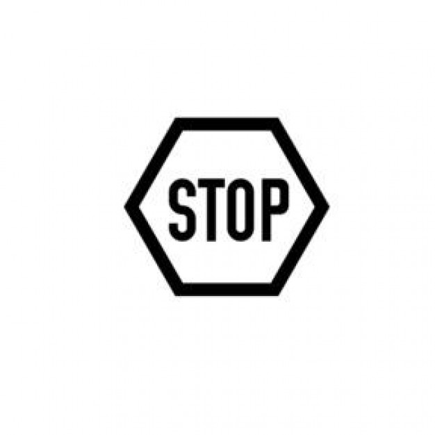 Stop Sign Black And White - ClipArt Best