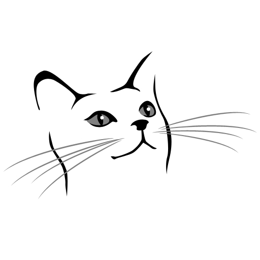 Line Drawing Of A Cat Face : Simple cat face drawing clipart best