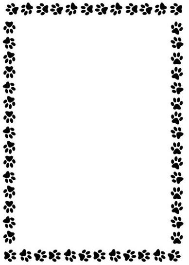wrap candy templates - paw print border for microsoft word clipart best