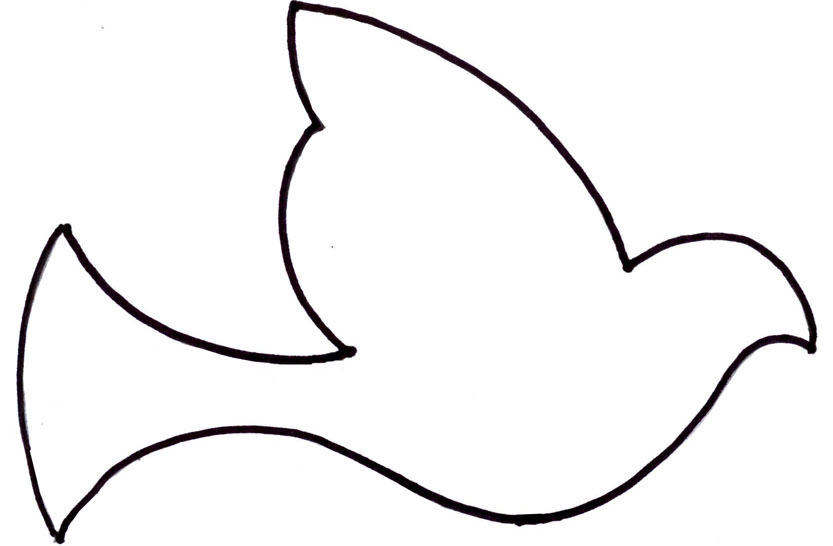 Simple Bird Line Art : Simple bird outline clipart best