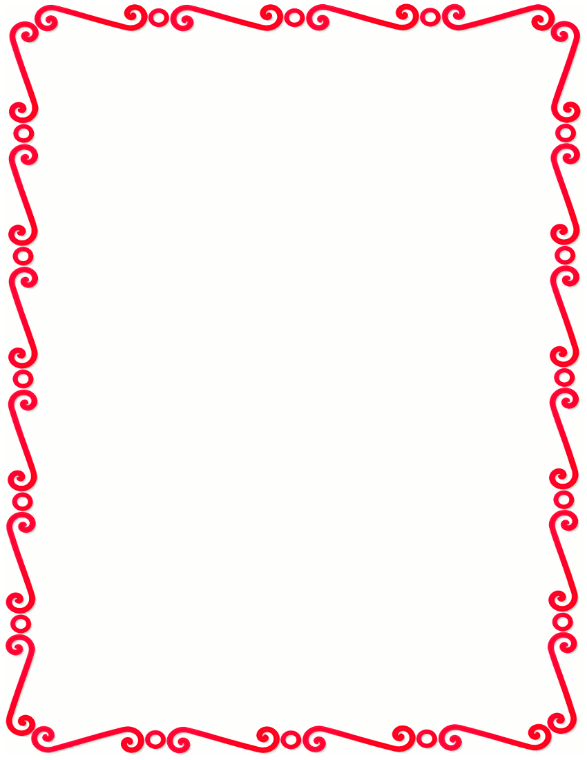 Red Border Templates Clipart Best