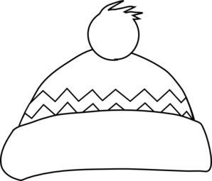 Winter Hat Outline clip art - vector clip art online, royalty free ...
