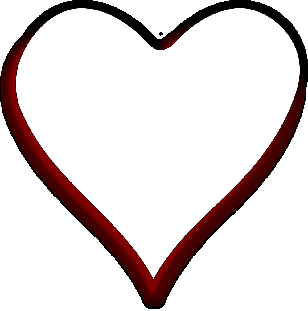 White Heart Black Background - ClipArt Best