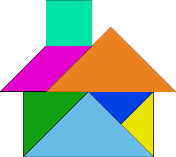 Tangram House - ClipArt Best