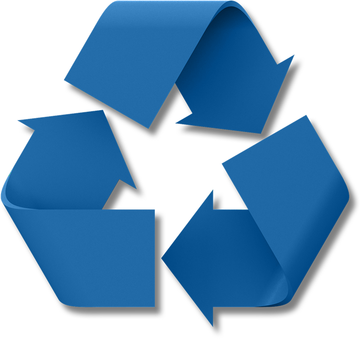 Blue Recycle Symbol - ClipArt Best