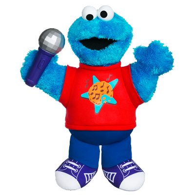 PLAYSKOOL SESAME STREET LET'S ROCK! Singin' Cookie Monster   Plush ...