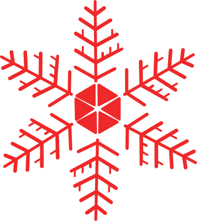 Red Snowflakes Clipart Red snowflake - clipart best