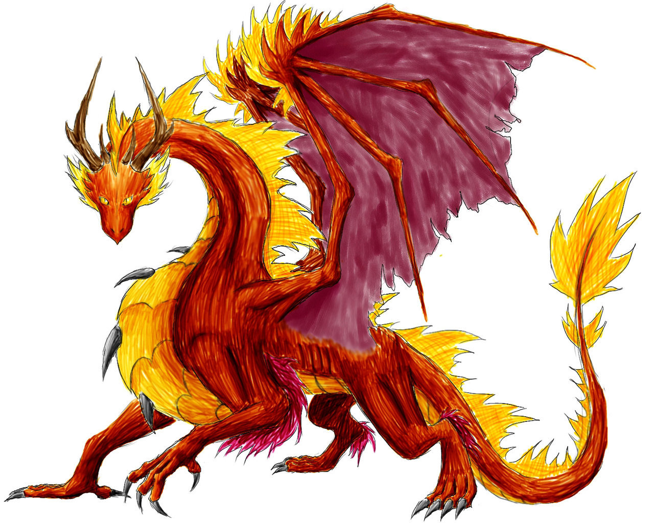 Pure flame dragon