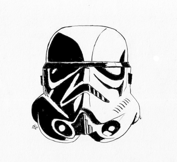 Stormtrooper Helmet Vector - ClipArt Best