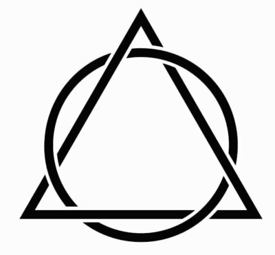 three triangle tattoo