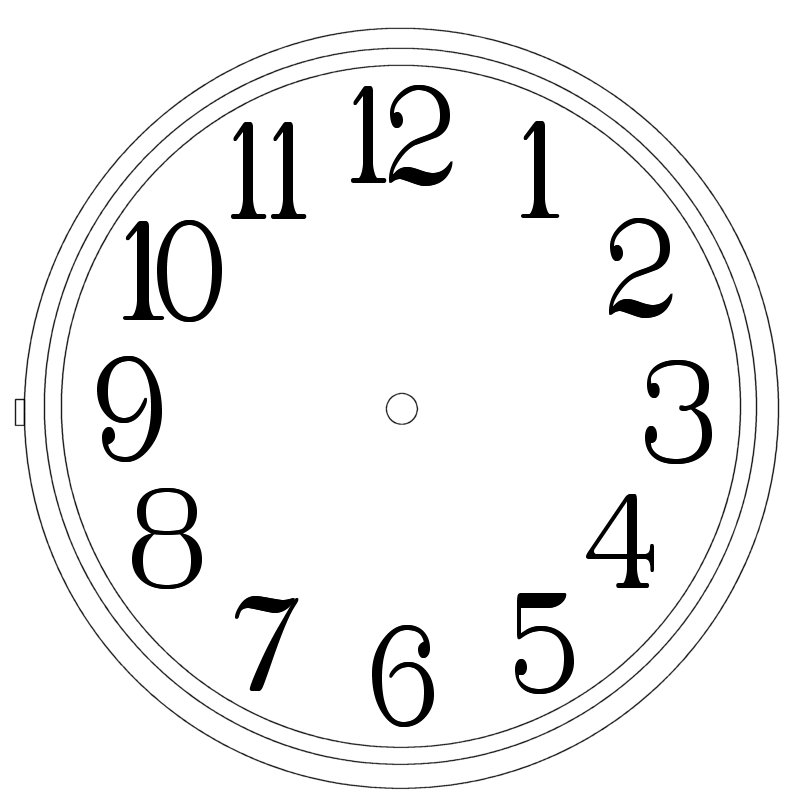 Clock Numbers Template Clipart Best