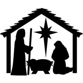 Clip Art Manger Scene Clipart manger scene clipart best nativity black white