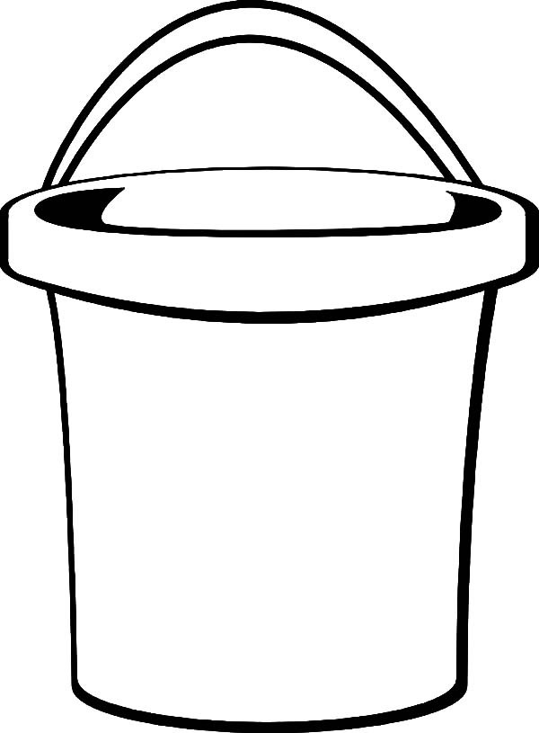 Bucket list clip art free sketch coloring page for Sand bucket template