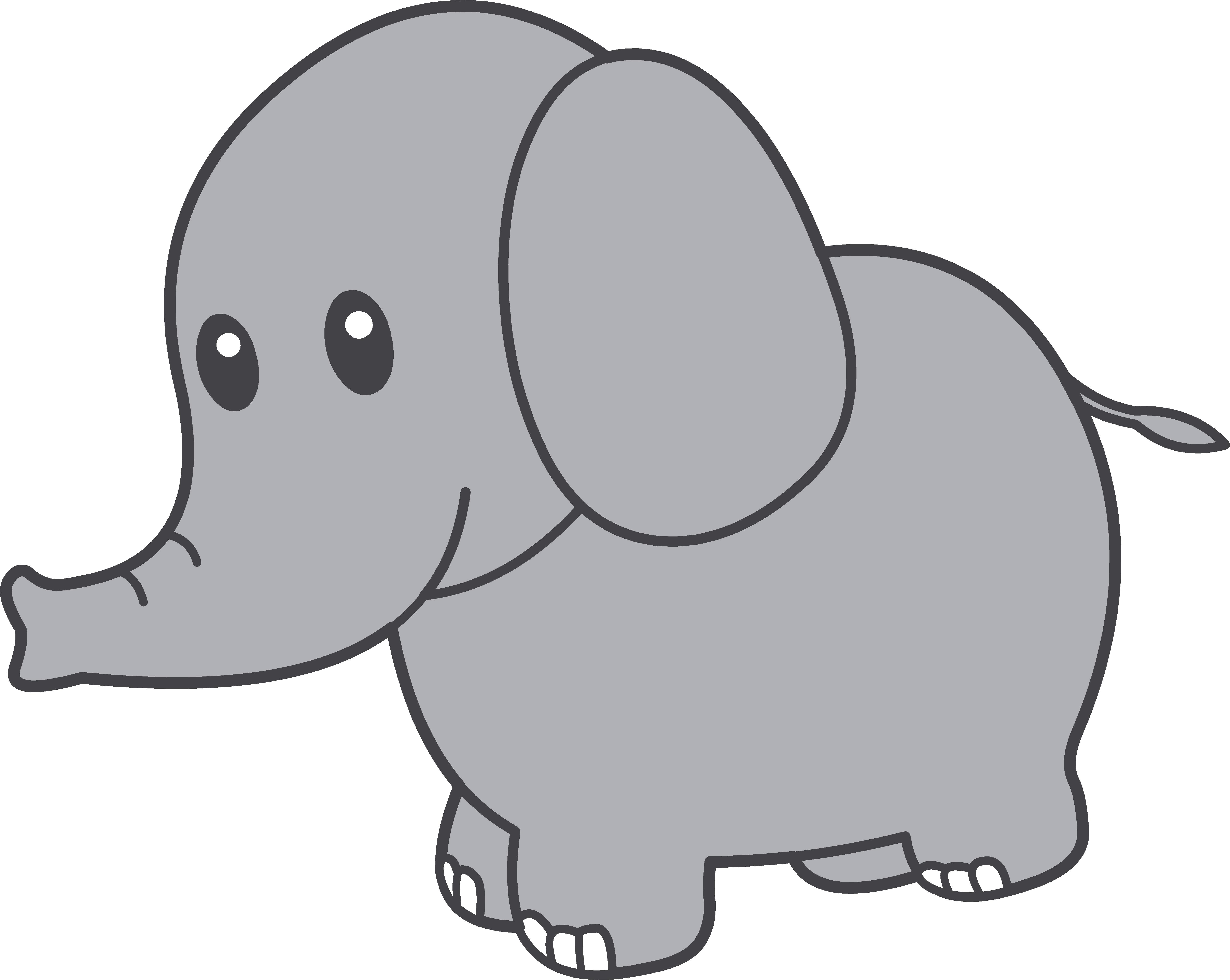 Cartoon Elephant Outline - ClipArt Best