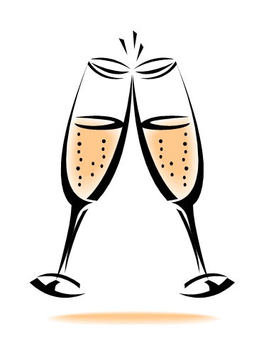 Champagne Glasses Toasting Clipart - ClipArt Best