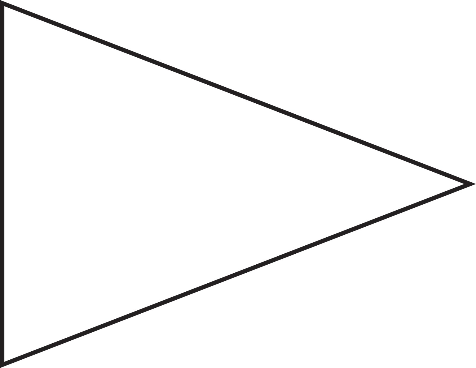 Triangle banner template clipart best for Printable pennant banner