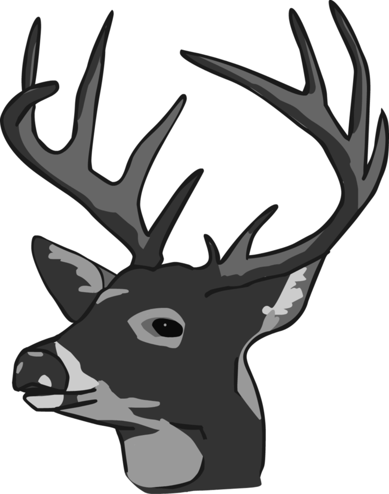 Antler 8 Point Buck Deer Head Bust Wall Hanging Figurine ...