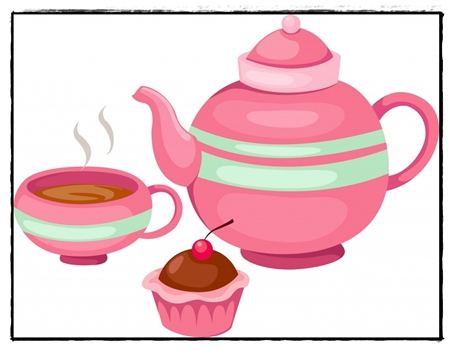 Free Clipart Tea And Cake : Tea Party Clip Art - ClipArt Best
