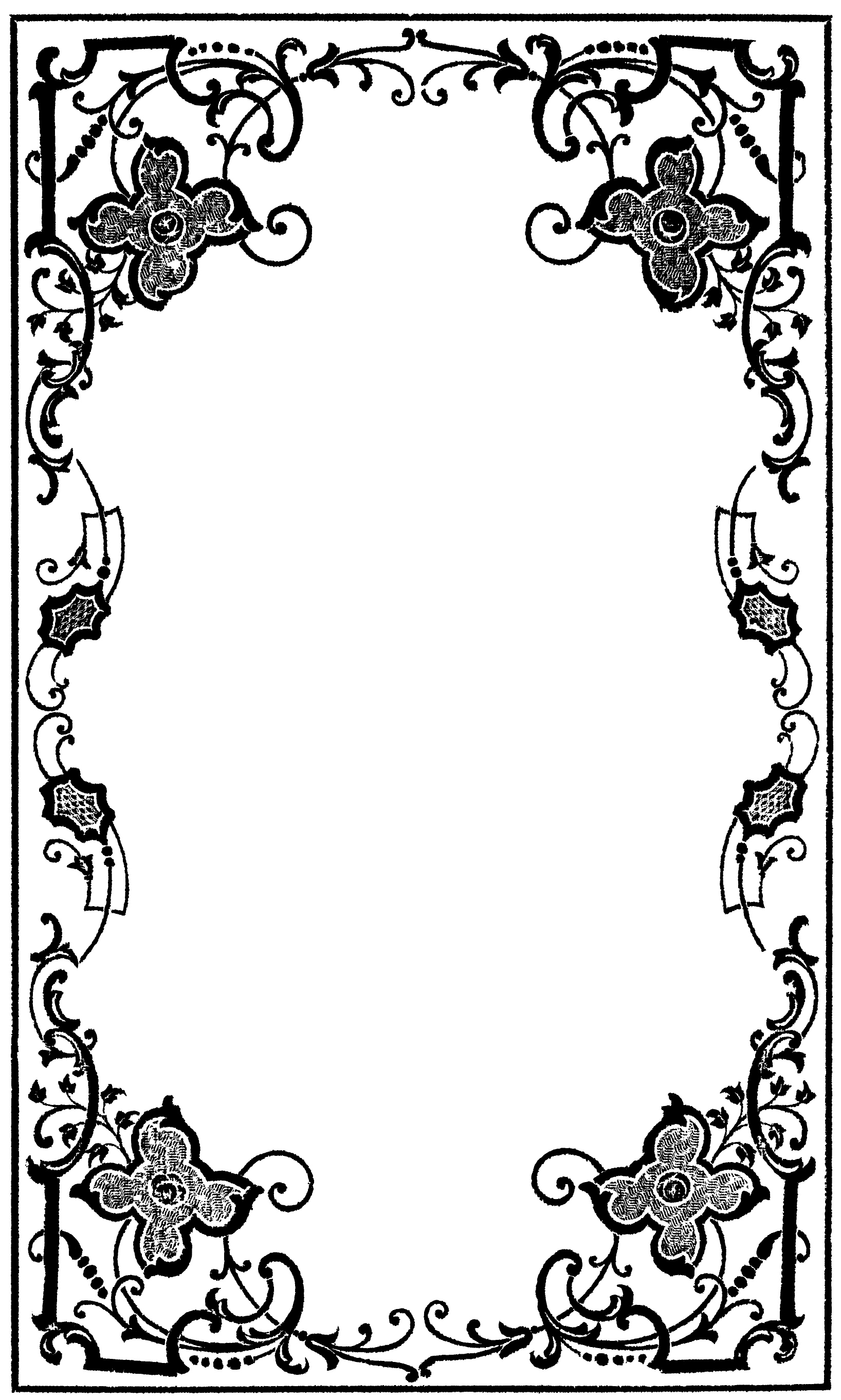 Drawing Book Cover Page Decoration : Decorative page borders free clipart best