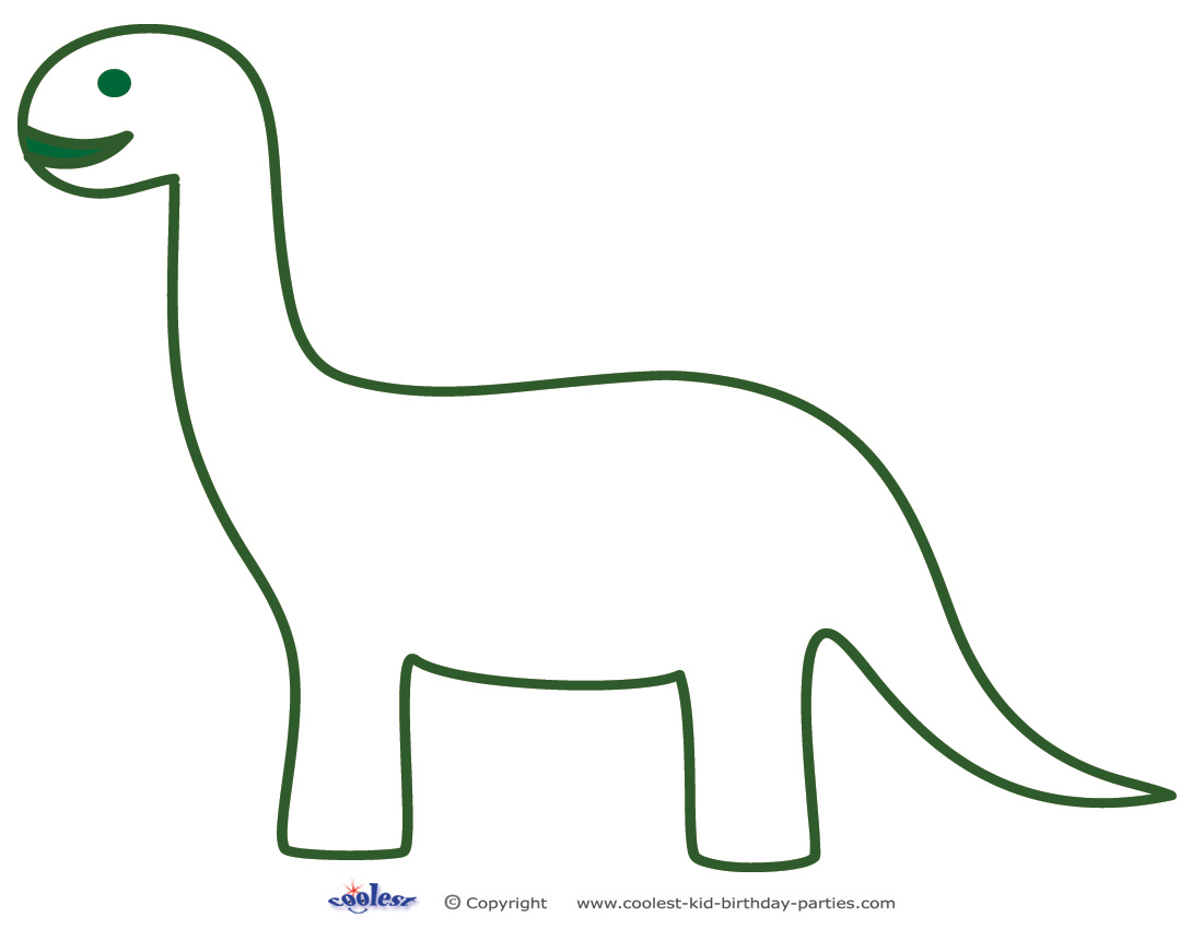 Bright image within dinosaur template printable