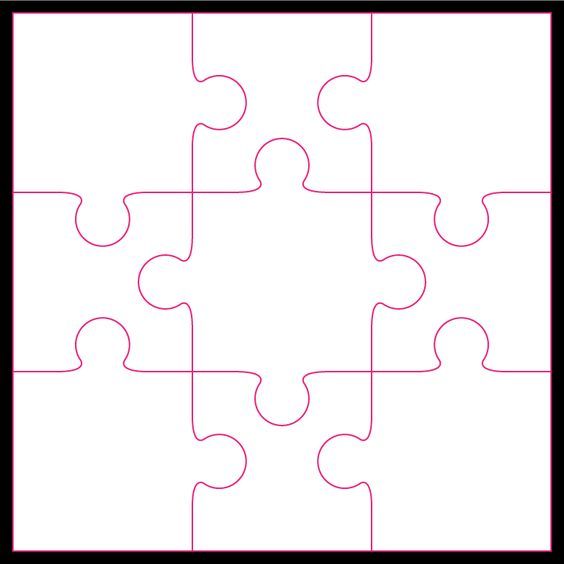 9 Piece Jigsaw Puzzle on Jigsaw Puzzle Templates