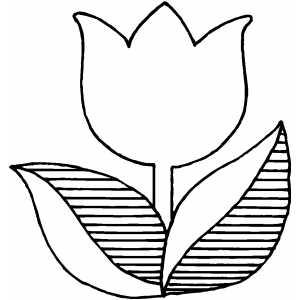Tulip Outline Clip Art - ClipArt Best