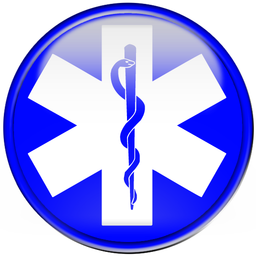 Blue star of life symbol button clipart image - ipharmd.