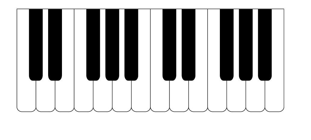 33 piano key template . Free cliparts that you can download to you ...