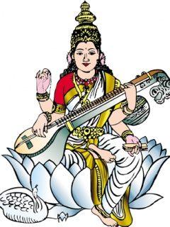 Saraswati Clipart - ClipArt Best