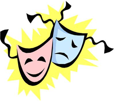Comedy Clipart Comedy tragedy drama faces