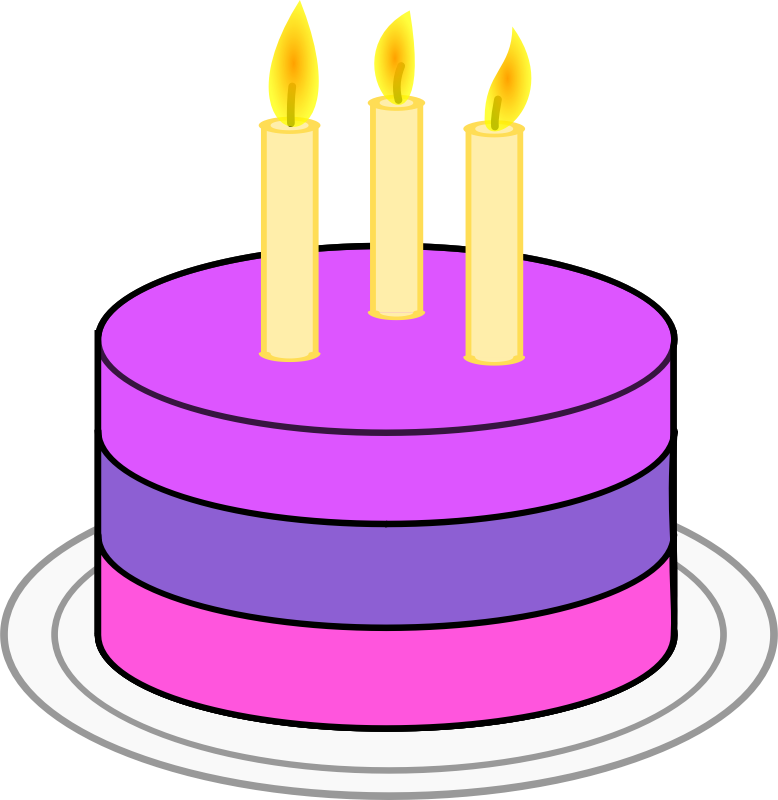 Cake Clipart Top View : Basic Birthday Clip Art - ClipArt Best